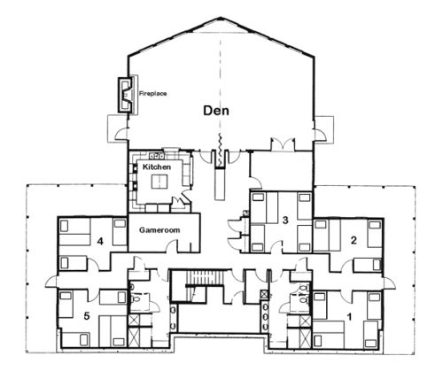 Blueprint of Daniel Retreat Center: Dorm Rooms