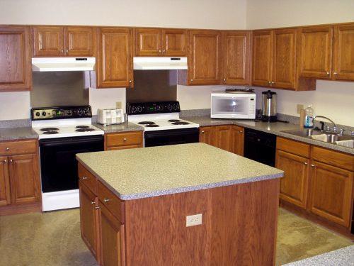 Kitchen in downstairs of Daniel Retreat Center