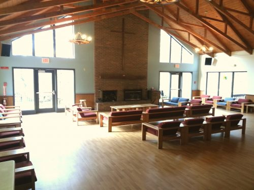 View of Lodge dining room from entrance