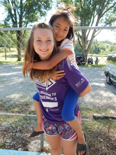 Making friends at Camp