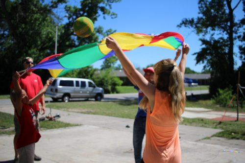 Playing parachute