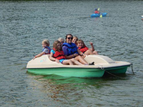 Explorers enjoying boating time