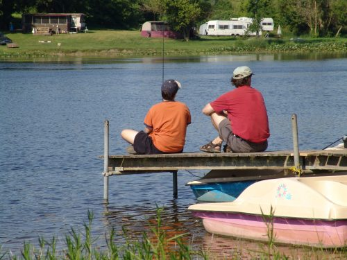 Father and Son enjoying the tradition of fishing.