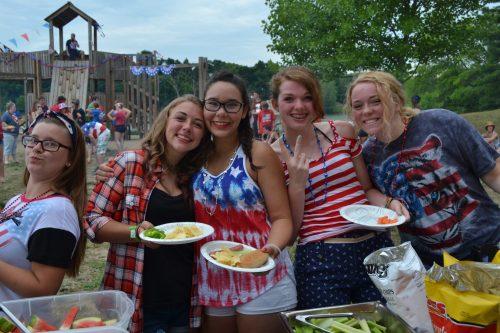 ReGroup Campers enjoying Thursday theme night
